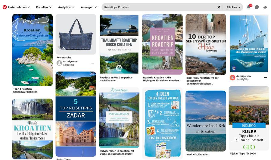 Suchergebnis-Reisetipps-Kroatien-Pinterest